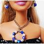 Joias \ Bijuteria Boneca Barbie - Brincos E Colar Redondo