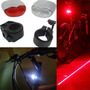 Kit Sinalizador Bike Bicicleta 2pç Farol Lanterna C/ Suporte
