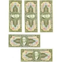 Cédula Dinheiro Antigo, 10 Cruzeiros, C-078, Getúlio Vargas