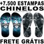 Estampas Chinelos + 7.500 Prontas Para Impressão