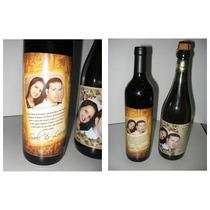 20 Rótulos Vinho Lembrancinha Casamento Personalizado