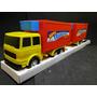 Coleção Marca Rabaker Caminhão Bau Refrigerado Com Reboque