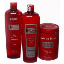 Kit 1ka Steel, Ativo + Natural Maski+ Shampoo S/ Formol