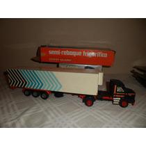 Caminhão Arpra 1/50 Scania T112 Com Carreta Frigorifico