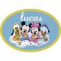 Placa Personalizada Turma Disney Baby Enfeite Festa Painel