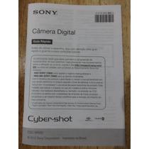 Manual Sony Câmera Digital Dsc-w710 Em Português