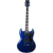 Frete Grátis - Thomaz Teg-340 Guitarra Modelo Sg Azul