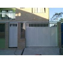 Portão De Garagem De Correr Ou Abrir Portão Social Rj