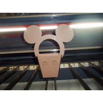Cachepot Do Mickey E Minie Para Enfeite De Mesa Em Mdf Cru