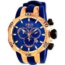 Relógio Invicta 10831 Venom Reserve Azul E Rose Com Caixa.