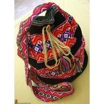 Bolsa Peruana Saco Tipo Wayuu Colombianas Preta ! Tendência