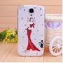 Capa Case Galaxy S4 I9500 Strass Bailarina Gata Brilho 3d