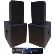 Kit Sonorização (1x15 +ti + Sub 18 ) 4 Caixas + Amplificador