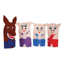 Dedoches Dos Três Porquinhos Nina Brinquedos Educativos