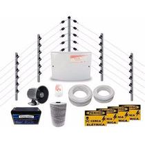 Kit Cerca Elétrica Industrial C/ Big Hastes Completa P/ 25m