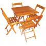 Conjunto De Mesa Bar E Restaurante Com 04 Cadeiras Cedro