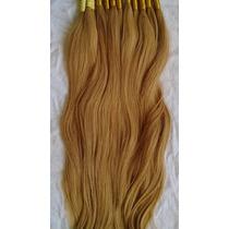 Cabelo Humano Mega Hair Loiro Médio 70cm 50 Gr.