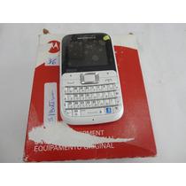 36 - Celular Motorola - Ex117 Branco C/ Rosa S/ Bateria