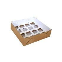 Caixa Transporte 16 Cupcakes Padrão - Pct C/ 10 Un