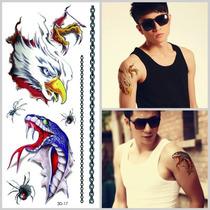 Tatuagem Temporaria 3d Muito Real Cobra Águia E Aranha