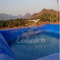 Lona Plástica Azul 12x10 Lago Tanque Peixes Cisterna 300micr