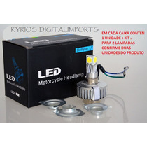 Lampada Led Farol H4 2000 Lm Alto/baixo Carro Moto 3x +forte