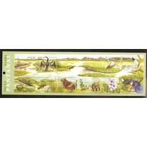 2001 - Folha De Selos - Fauna E Flora Pantanal - Mint