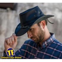 Chapeu Modelo Indiana Jones Em Couro Legitimo Dobraviel
