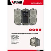 Pa Portátil Mp3 Player Usb/sd Bluetooth Novik Street Sound 5