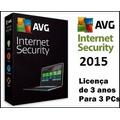 Avg Internet Security 2015 Licença P/ 3 Maquinas