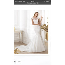Vestido De Noiva Off White Pronovias Nunca Usado Com Veu