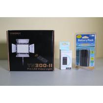 Iluminador Led Yn 300 Yn300 + 2 Baterias F970 + Carregador