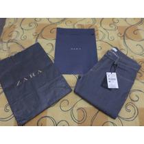 Calça Jeans Zara Man Tamanho M = 40 Strecht Novo Com Sacola