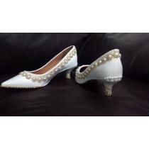 Sapato Pérola-strass Noiva/festa Personalizado Só Detalhes