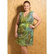 Vestido Tropical - Plus Size G Gg Xxg Xlg Gordinhas Lindas