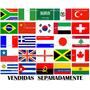 Bandeira Países Bandeiras Tecido 1,50 X 90cm Nações Diversas