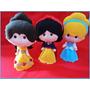 Bonecas Princesas Disney Em Feltro, Centro De Mesa Decoração
