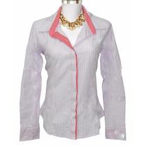 Camisa Feminina Listrada Dudalinda Flor
