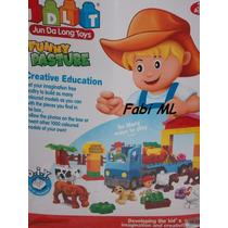 Brinquedo De Montar Fazenda Feliz 72 Peças