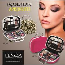 Maleta De Maquiagem Fenzza Na Cor Pink E Onça