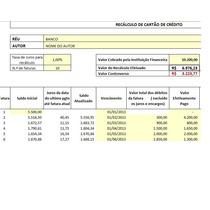Planilha Revisional De Cartão De Crédito + Inicial + Brindes