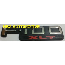 Emblema Ford F100 Xlt (pick Up) Cromado - Nbz Automotive