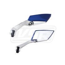 Espelho Retrovisor Esportivo Moto Azul Koso Yamaha Ys 250