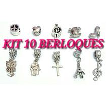 Kit 10 Berloques Pandora Moments Vivara Life 10 Berloques