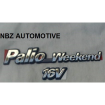Emblema Palio Wekeend 16v Crom/azul - Linha Fiat 97/99 - Nbz