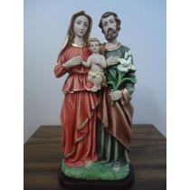 Kit Imagens Gesso Sagrada Família Com 02 Lindas Esculturas