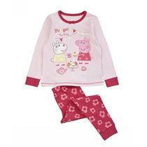Pronta Entrega! Pijama Longo Menina Peppa Pig Rosa Importado