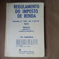 Regulamento Do Imposto De Renda 1994