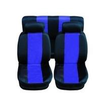 Capas Protetoras De Bancos Automotivos Preto C/ Azul