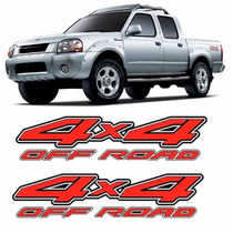 Par Adesivo Lateral 4x4 Off-road Frontier 2003 2004 2005